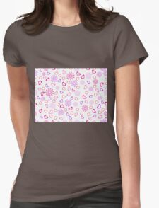 Hearts with Snowflakes Womens Fitted T-Shirt