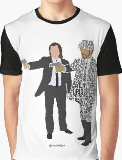 Jules and Vincent from Pulp Fiction Typography Quote Design Graphic T-Shirt