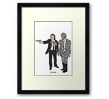 Jules and Vincent from Pulp Fiction Typography Quote Design Framed Print