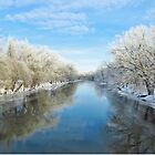 Winter on the River by lorilee