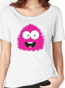 Funny cartoon pink monster Women's Relaxed Fit T-Shirt