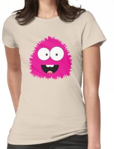 Funny cartoon pink monster Womens Fitted T-Shirt