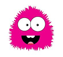 Funny cartoon pink monster Photographic Print