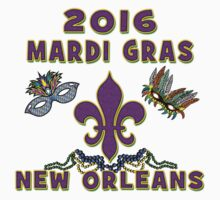 2016 Mardi Gras New Orleans 2016 NOLA Kids Tee