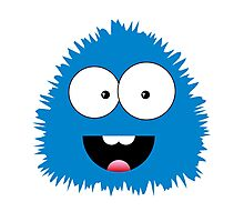 Funny cartoon blue monster Photographic Print