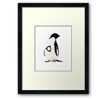 """Ubuntu"" Penguin tattoo Framed Print"