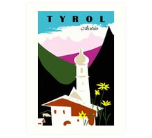 Retro vintage Tyrol Austria travel advertising Art Print