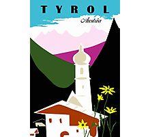 Retro vintage Tyrol Austria travel advertising Photographic Print