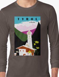 Retro vintage Tyrol Austria travel advertising Long Sleeve T-Shirt
