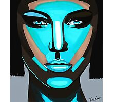 Blue Face Photographic Print