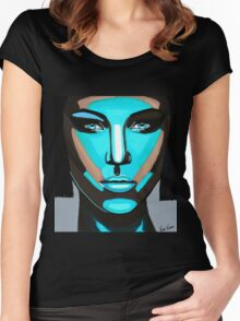 Blue Face Women's Fitted Scoop T-Shirt