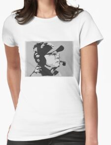 Tom Coughlin Portrait Womens Fitted T-Shirt