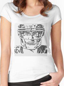 Eli Manning Portrait Women's Fitted Scoop T-Shirt