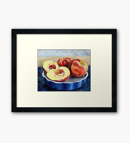 Peach Painting Framed Print