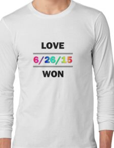 Love Won Long Sleeve T-Shirt