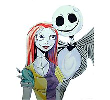 Sally and Jack from the Nightmare before Christmas Photographic Print