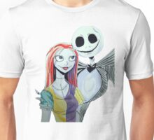 Sally and Jack from the Nightmare before Christmas Unisex T-Shirt