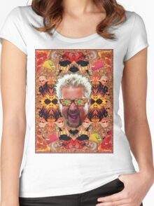 God Guy Fieri's Hot Dog Diggityverse Women's Fitted Scoop T-Shirt