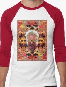 God Guy Fieri's Hot Dog Diggityverse Men's Baseball ¾ T-Shirt