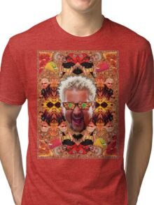 God Guy Fieri's Hot Dog Diggityverse Tri-blend T-Shirt