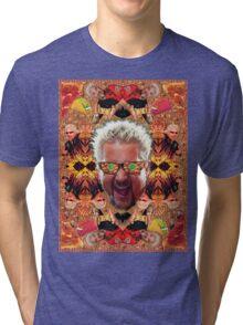 God Guy Fieri's Hot Dog Diggityverse Tri-blend T-Shirt