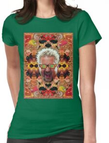 God Guy Fieri's Hot Dog Diggityverse Womens Fitted T-Shirt