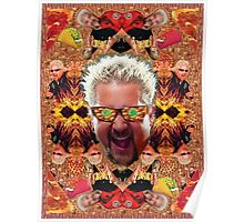 God Guy Fieri's Hot Dog Diggityverse Poster