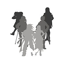 Tales of the Abyss cast silhouette Photographic Print