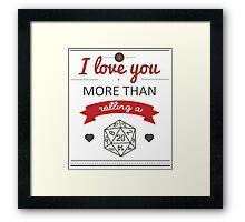 Geek love Framed Print