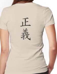One Piece Justice Kanji Womens Fitted T-Shirt