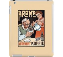 Funny vintage Dutch coffee surrogate ad iPad Case/Skin