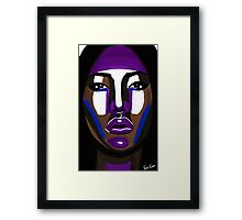 Plum Face Framed Print