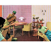 Hanging out at Paul's place, Vintage Collage Photographic Print