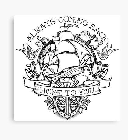 Sailor Tattoo Fan Art Canvas Print