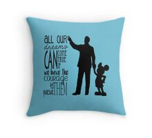Walt's Words Throw Pillow