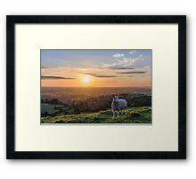 Sunset over South England Framed Print