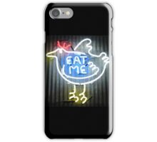 Neon Sign - Eat Me iPhone Case/Skin