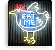 Neon Sign - Eat Me Canvas Print