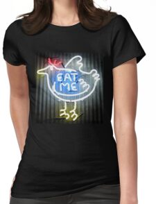 Neon Sign - Eat Me Womens Fitted T-Shirt