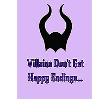 Villains Photographic Print