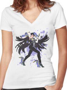 Bayonetta - Super Smash Bros Women's Fitted V-Neck T-Shirt