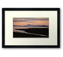 Camano Island, WA, at Sunset Framed Print