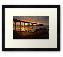 The Pier on La Jolla Shores Framed Print