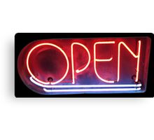Neon Sign - Open Canvas Print