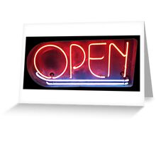 Neon Sign - Open Greeting Card