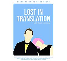 Lost In Translation film poster Photographic Print