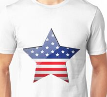 American Flag Star Shape Unisex T-Shirt