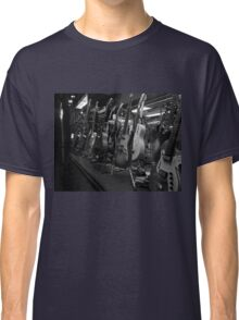Guitars. Bleecker Street. B&W Classic T-Shirt