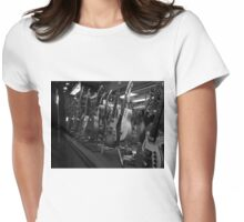 Guitars. Bleecker Street. B&W Womens Fitted T-Shirt