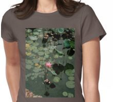 ELEGANT WATER LILY Womens Fitted T-Shirt